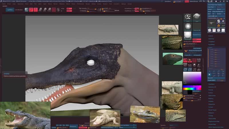 3DChar Lection 3 ZBrush создание модели