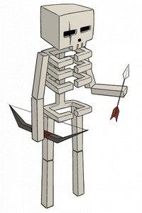 как нарисовать скелета из майнкрафт #7