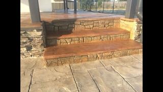 Ступеньки в виде старого дерева из бетона. Александр Макеенко. Steps Decorative plaster Art concrete