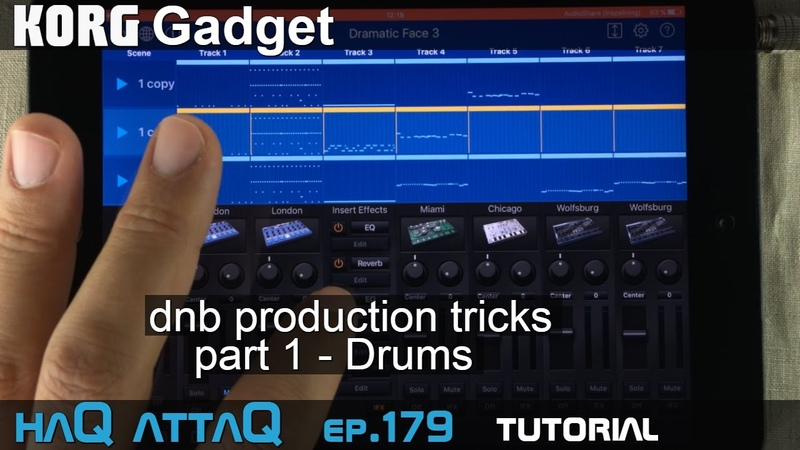KORG Gadget dnb Production Tricks │ Part 1 Drums - haQ attaQ 179