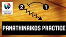 Basketball Coach Dimitris Itoudis - Pre-session Practice of Panathinaikos