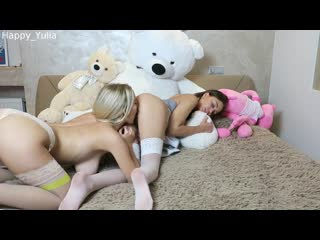 Happy Yulia Lesbian Students Playing on the Bed [Teen Webcam Porn Amateur Dildo Anal]
