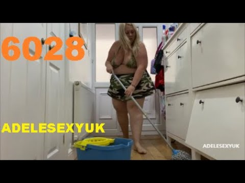 STAY HOME WITH BBW ADELESEXYUK CLEANING HER OUTER HALLWAY