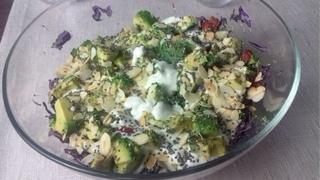 Кето рецепт салата.  Кето салат с броколли очищающий (DETOX)