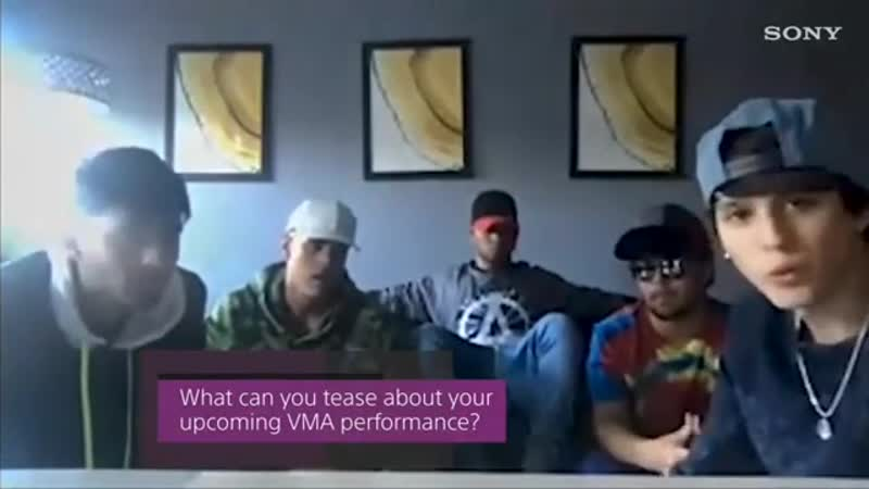 Sony via Twitter 🐦 We asked CNCO for a hint of what to expect from their @MTV VMA performance 👀👀