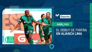 Alianza Lima: los movimientos y despliegue de Jefferson Farfán en su debut con la 'blanquiazul'