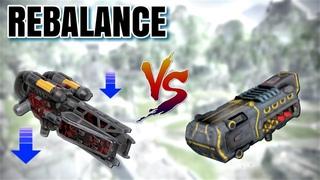 [WR] Incinerator (after nerf) VS Avalanche - Damage Comparison | War Robots Test Server