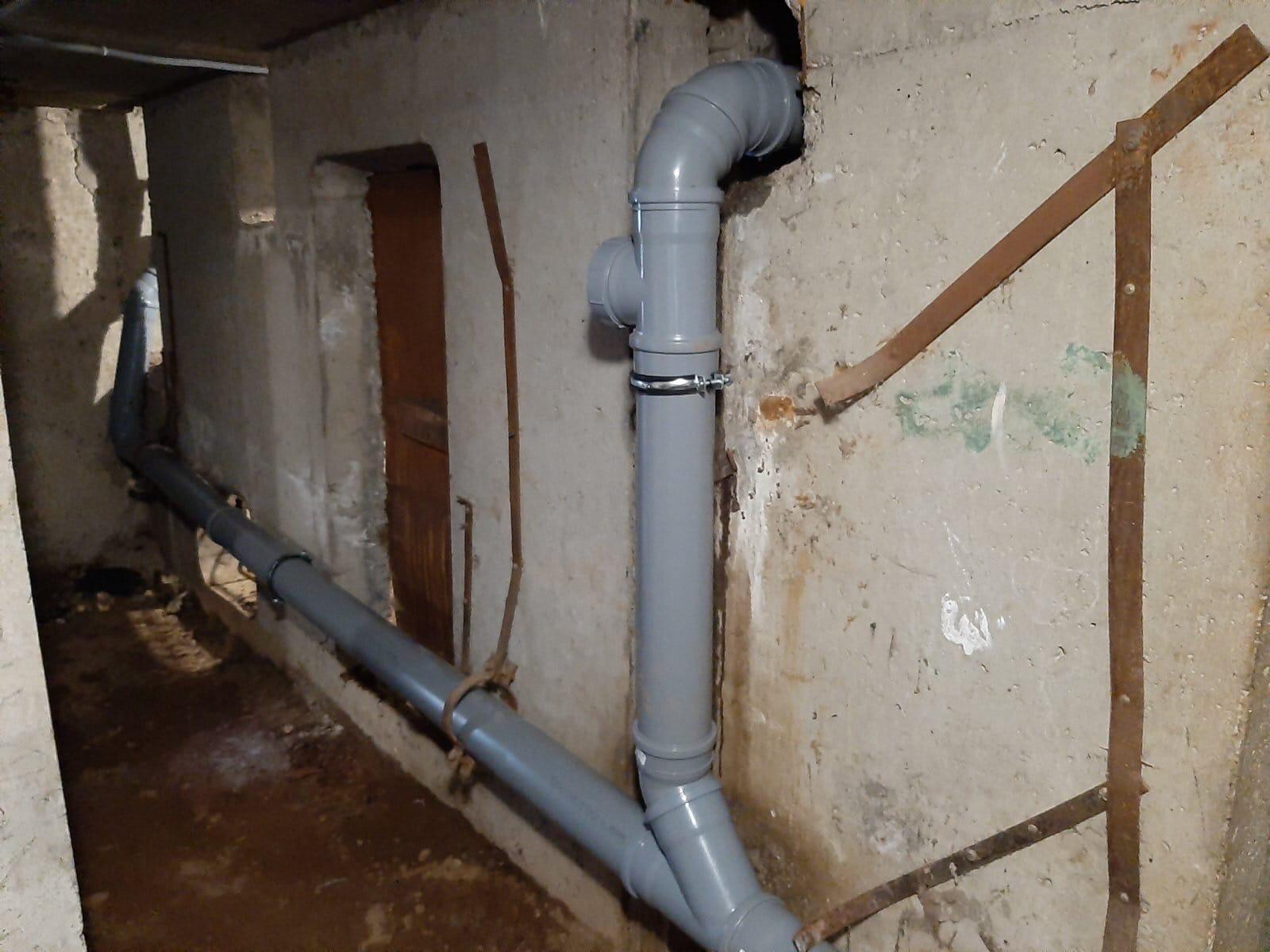 Улица Московская дом 173 замена канализационных трубно