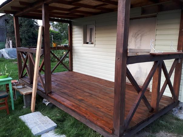 Реставрация старого летнего домика