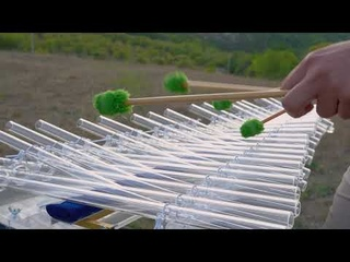 J. S. Bach  - Minuet in G minor - Svaritanum chromatic crystalophone - Сrystal harp - Pavel Chizhik