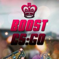 Логотип CS:GO boost аккаунтов от delmaN