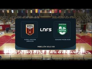 Futsal- Futbol Emotion Zaragoza 4 vs Osasuna Magna Xota 4 (LNFS 20/21- Jornada 15)