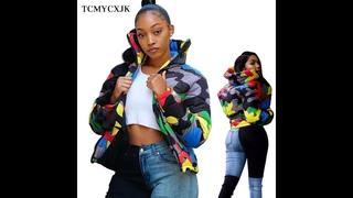 Зимняя куртка для мужчин/женщин, плюс размер 4xl, камуфляжные принты, парки, пальто, верхняя одежда, модные обрезанные