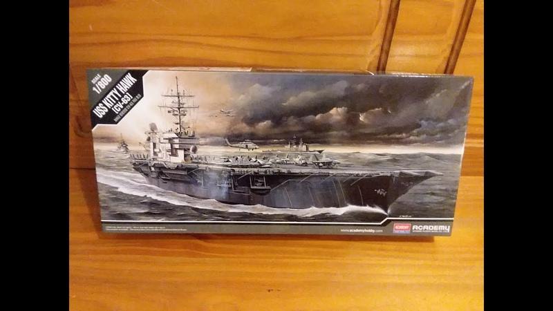 Academy 1 800 USS Kitty Hawk CV 63 Aircraft Carrier Plastic Model Review