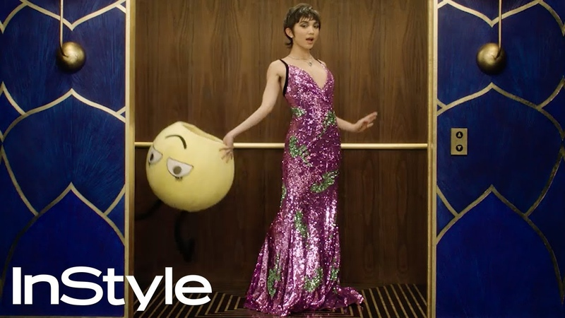Rowan Blanchard 2020 Golden Globes Elevator InStyle