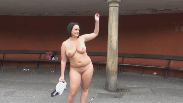 Chubby public nude