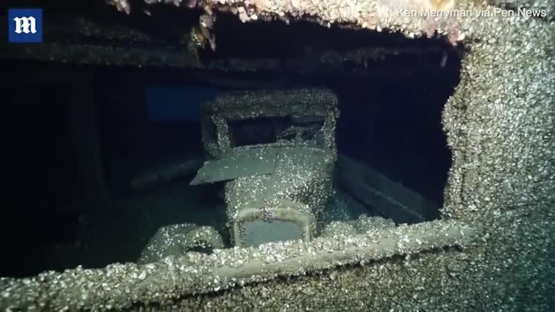 На затонувшем 90 лет назад корабле нашли автомобиль