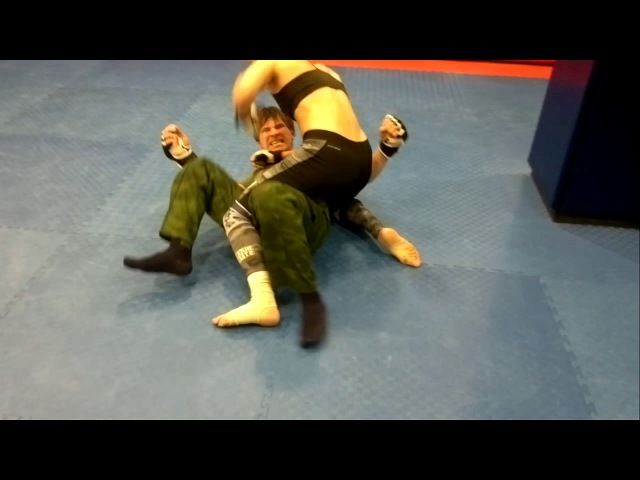 Mixed kickboxing . Arina Fox Russian Ivan