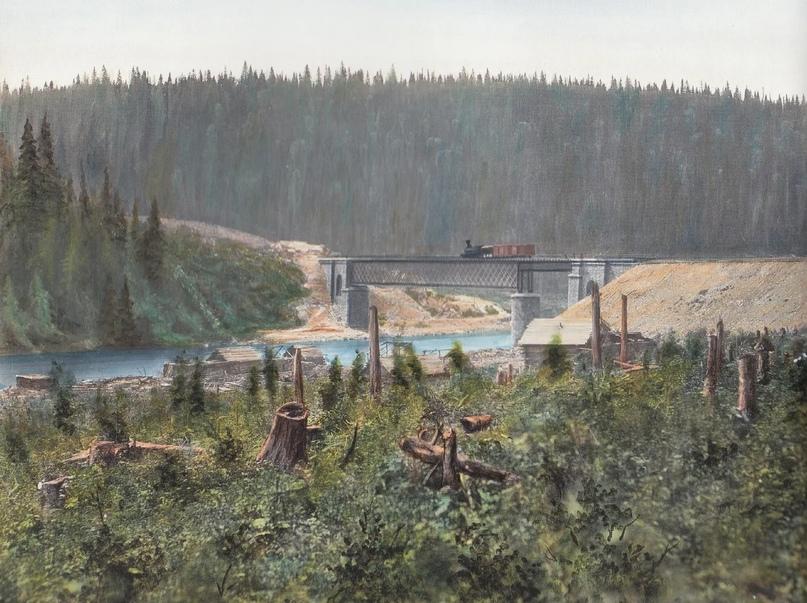 Первозданная железнодорожная Россия в цвете эпохи царской Империи глазами неизвестного фотографа, изображение №19