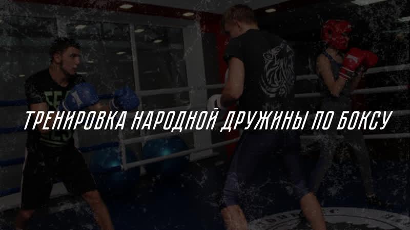 Тренировка Народной Дружины по боксу