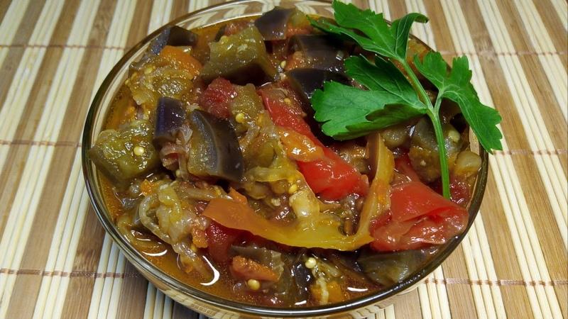 ИКРА баклажанная рубленная на зиму 🌟 Eggplant caviar chopped 🌟 Patlıcan havyar doğranmış tarifi